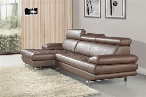 light brown leather sectional stem sectional sofa by beverly in light brown leather