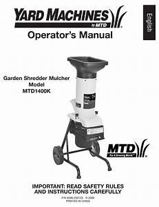 Yard Machines Mtd1400k Operator U0026 39 S Manual Pdf Download