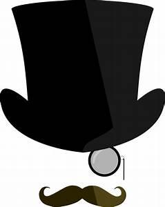 OnlineLabels Clip Art - Top Hat, Moustache, Monocle