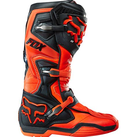 dirt bike riding shoes fox mx gear new 2015 comp 8 orange motocross off road dirt