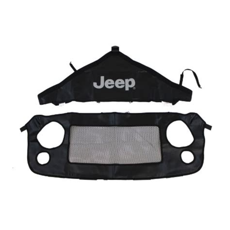 jeep front logo genuine jeep accessories 82210318ab front end cover black