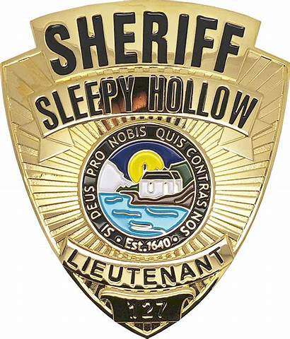 Badge Sleepy Shield Sheriff Police Lieutenant Holllow