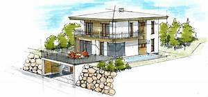 Bauen Am Hang Bilder : haus plan walmdach im hang architektur innendesign ~ Articles-book.com Haus und Dekorationen