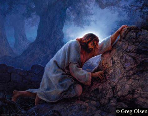 jesus praying in the garden greg paintings