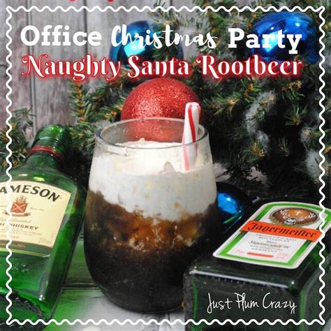 office christmas party naughty santa rootbeer cocktail