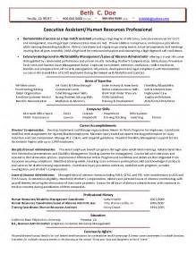 human resources professional resume sle hr generalist resume format for experienced bestsellerbookdb