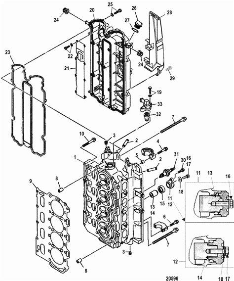 Mercury 90hp 4 Stroke Wiring Diagram by Mercury Marine 75 Hp Efi 4 Stroke Cylinder Parts
