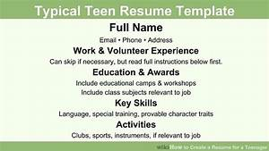 How to create a resume for a teenager 13 steps with for How to start a resume for a teenager