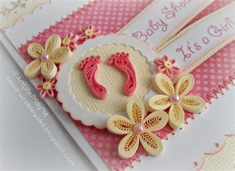 perfect  baby girl cards  images paper quilling