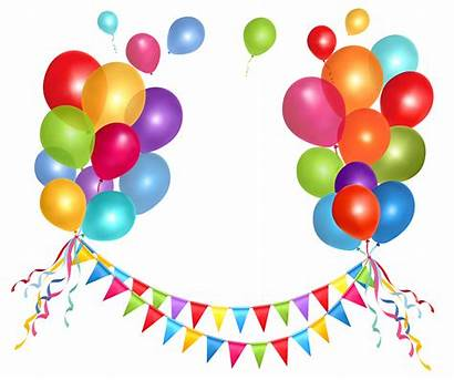 Clipart Streamers Birthday Transparent Balloons Party Streamer