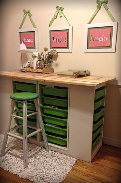 Kitchen Craft Vs Ikea by Trendy Diy Craft Room Table Ikea Trofast Storage Shelving