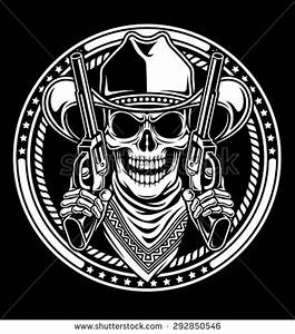 Royalty Free Stock Photos and Images: Cowboy Skull Hold ...