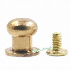 Head Button Brass Stud Screwback Screws Back Spots for ...
