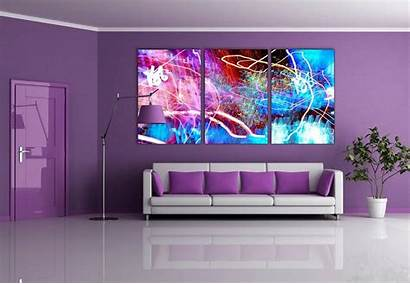 Purple Paint Walls Colors Rooms Space Mirror
