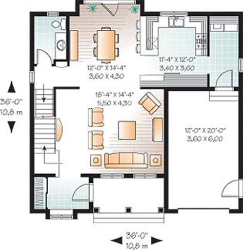 whitman 3685 2 bedrooms and 2 baths the house designers