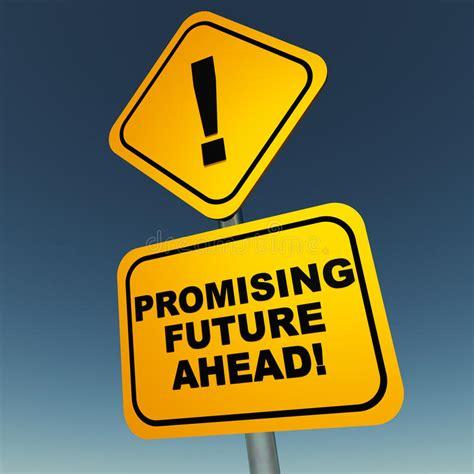 Promising future ahead stock illustration. Illustration of ...