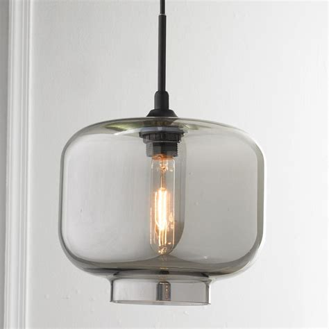sleek and chic colored glass pendant available in 4 colors