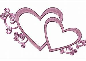 Double Free Wedding Heart Clipart Pink Double Heart Png By ...