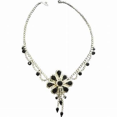 Necklace Marquise Pendant Rhinestone Stunning Scallops Drops