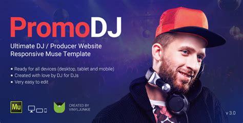 promodj dj producer musician website responsive muse