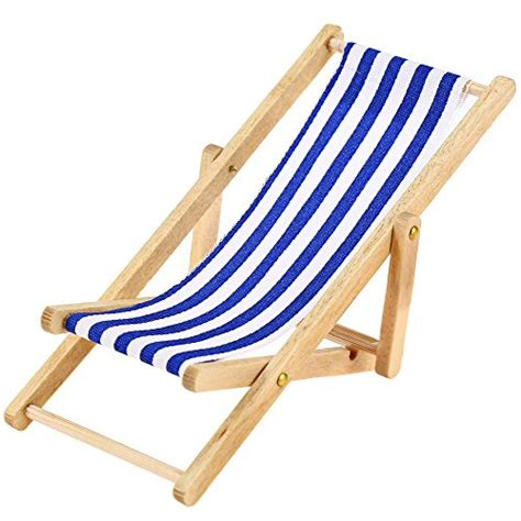 pcs  miniature dollhouse foldable wooden beach chair