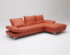 dali vg modern orange sectional sofa leather sectionals With orange leather sofa