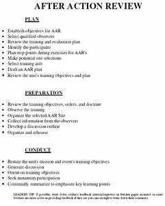 after action review armystudyguidecom With army after action review template