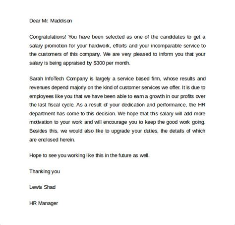 promotion letters sample templates