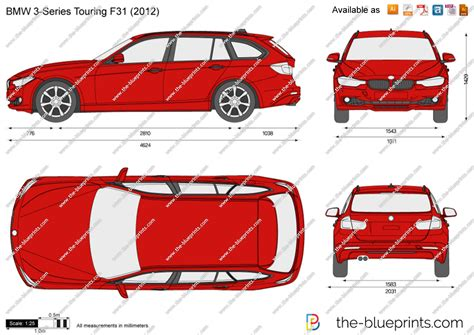 bmw  series touring  vector drawing