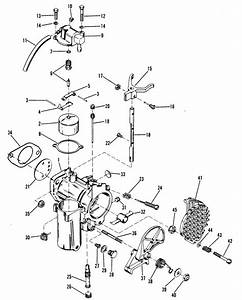 Mercury Marine 35 Hp  2 Cylinder  Carburetor Assembly Parts