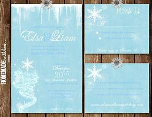 the frozen collection set printable wedding invitation With homemade disney wedding invitations