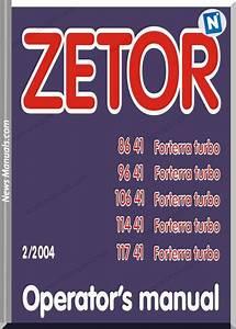 Zetor 8641 9641 10641 11441 11741 Operators Manual