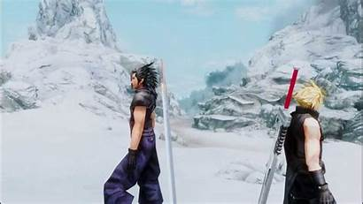 Zack Cloud Sephiroth Fair Strife Skyrim Mod