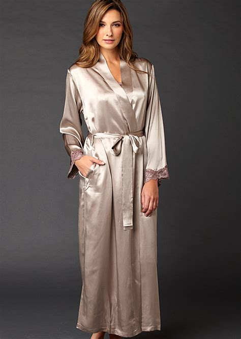 peignoir robe de chambre indulgence silk robe luxury silk robe julianna