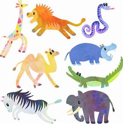 Clipart Wild Animal Domain Watercolor