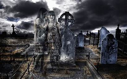 Wallpapers Horror Halloween Graveyard Desktop Ghost Backgrounds