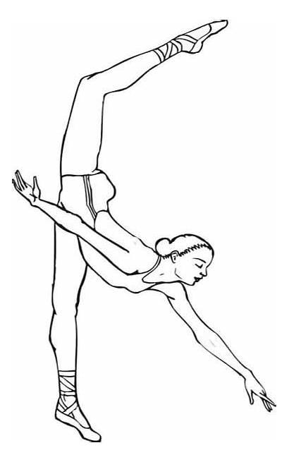 Coloring Ballet Pages Dancers Ballerina Printable Dancer