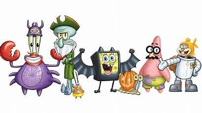 Spongebob Nickelodeon Squarepants Halloween Host Nick Characters