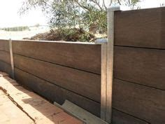 Cement Retaining Wall Looks Like Wood  Home Retaining