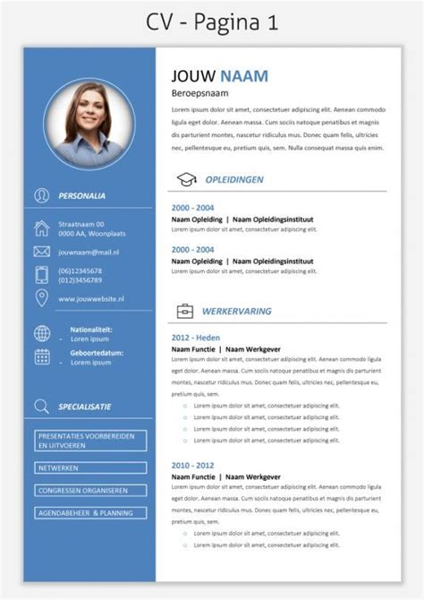Modern Cv by Modern Resume Template Professional Resume Template