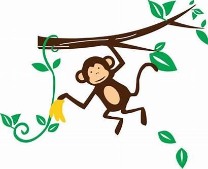 Monkey Clipart Hanging Clip Hang Jungle Cliparts