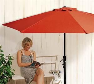 sonnenschirm fr balkon mit kurbel die neueste innovation With französischer balkon mit bast sonnenschirm natur