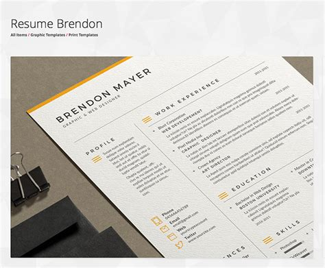 Making Resumes In Microsoft Word Envato
