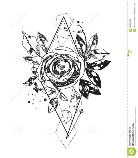 Abstract rose tattoo #tattoodesign Silhouette tattoos