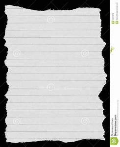 White Lined Paper Stock Photo - Image: 34831610
