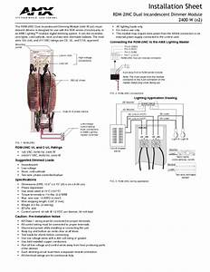Dual Incandescent Dimmer Module Rdm-2inc Manuals