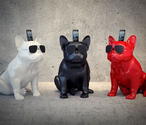 French Bulldog iPhone Speaker Dock