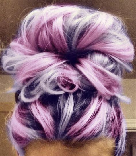 Hair Hipster Pink Purple Pastel Bun Soft Grunge Look Like
