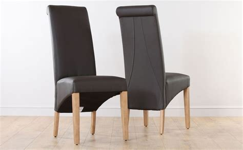 brown leather dining room chairs home furniture design