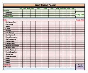 Budget planner spreadsheet excel budget planner template for Yearly budget planner template